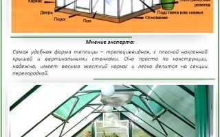 Обустройство теплицы из поликарбоната внутри: особенности зонирования