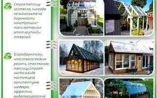 Теплицы из стекла: инструктаж по возведению стеклянных парников