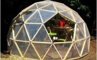 Теплица геодезический купол: пошаговая технология возведения