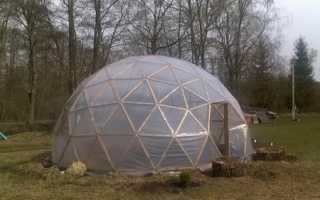 Геодезический купол теплицы своими руками: как рассчитать, построить и обустроить + фото