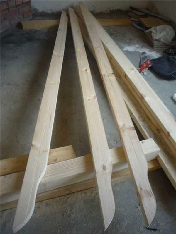 Деревянные балки для перголы