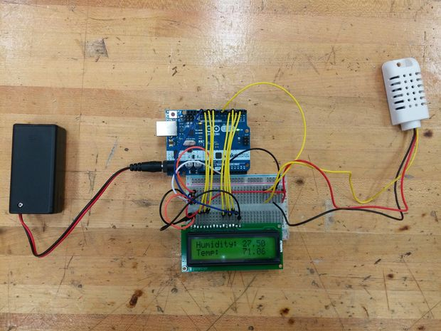 Парниковый контролер влажности и температуры — Arduino