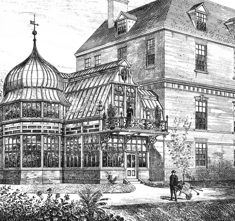 В 19-20 веке теплицы были полноценными элементами архитектуры