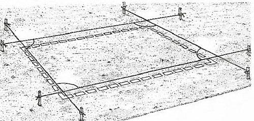 Разметка площадки под теплицу