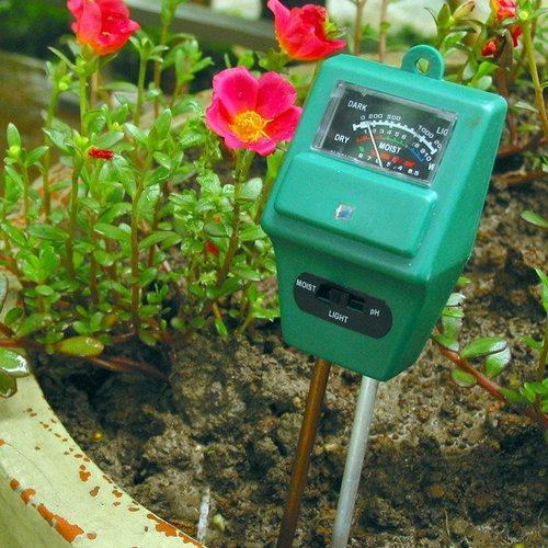 Прибор 3-в-1 для измерения кислотности, влажности и освещенности