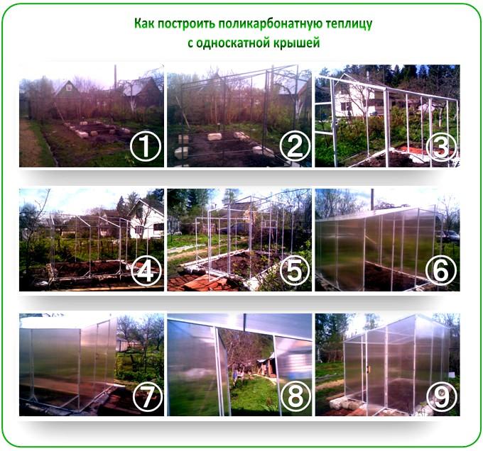 Как построить поликарбонатную теплицу