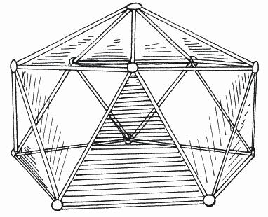 Фото самодельной многоугольной теплицы