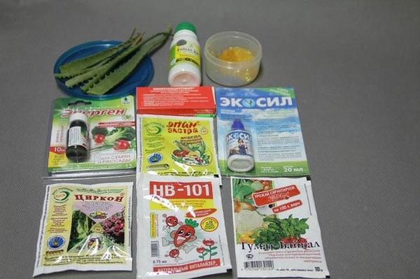 Компоненты для обработки семян