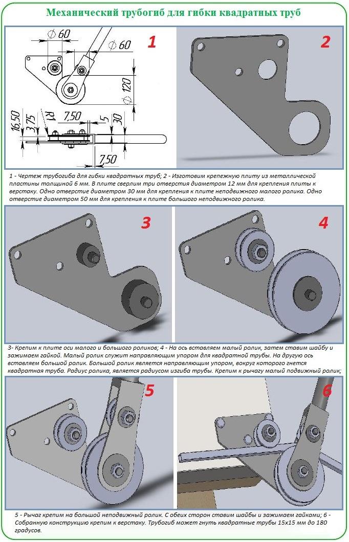 Как сделать трубогиб для гибки профильных труб