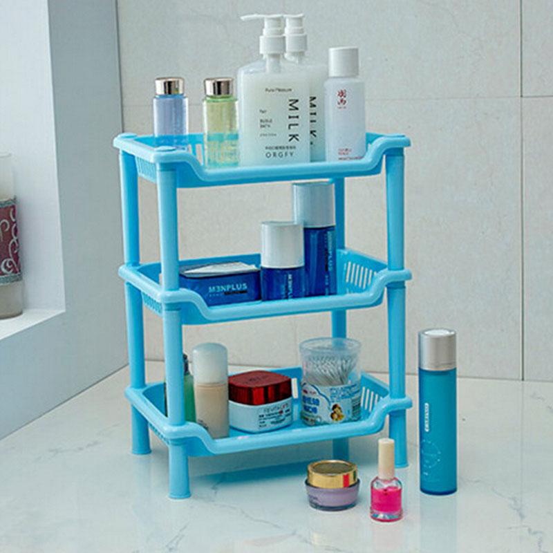 Пластиковый стеллаж для ванной комнаты