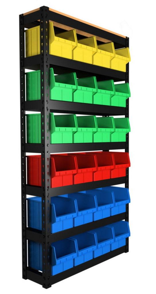 Пластиковые стеллажи для мелочей