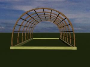 постройка теплицы из дерева