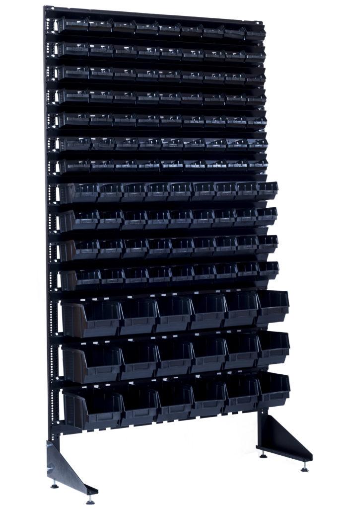 Пристенный стеллаж с ящиками