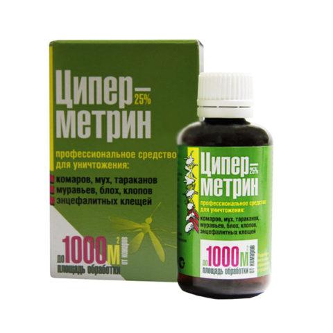 Циперметрин – самый популярный пиретроид