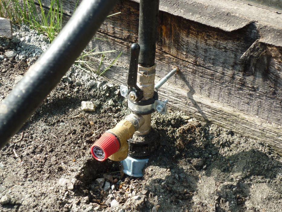 Установка насоса с верхним уровнем водозабора