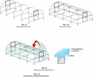Устройство теплицы из поликарбоната