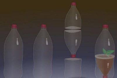 Вместо верхней части второй бутылки можно использовать пластиковый стаканчик